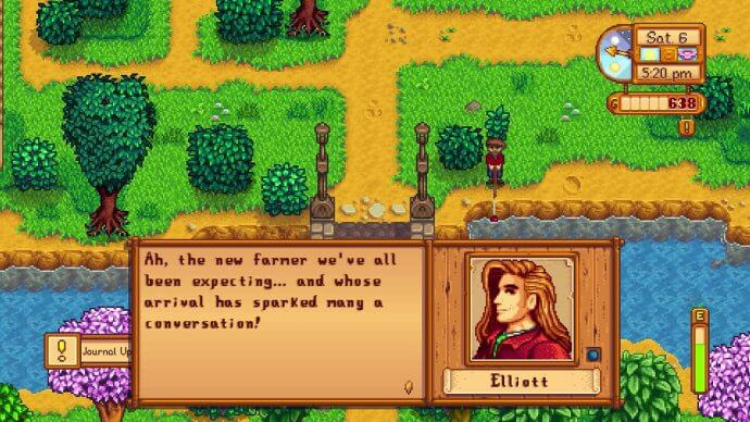 Elliott: Ah, the new farmer we've all been expecting... and whose arrival has sparked many a conversation!