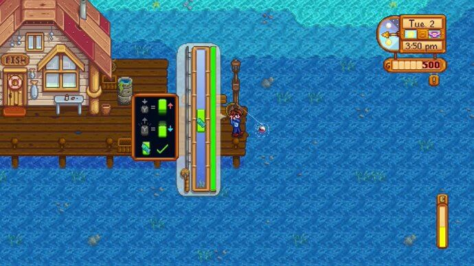 Fishing in Stardew Valley for Nintendo Switch.
