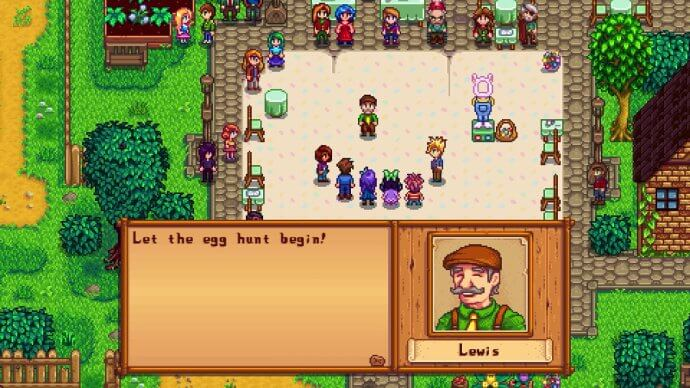 Lewis: Let the egg hunt begin!