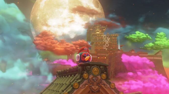 The moon in Super Mario Odyssey.