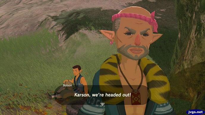 Bolson: Karson, we're headed out!