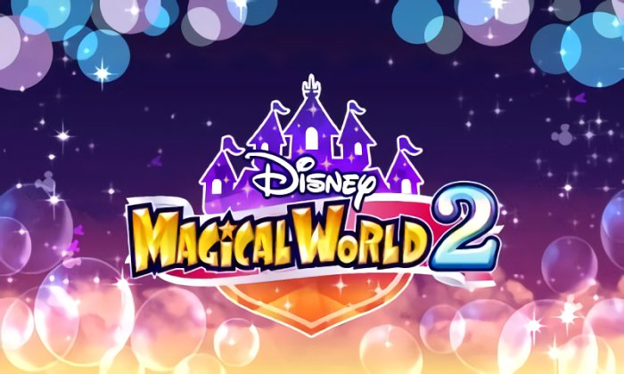 Disney Magical World 2 title screen for Nintendo 3DS.