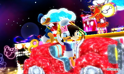 Driving with Daisy and Donald Duck in a magic dream.