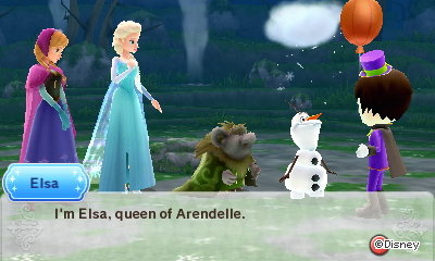 Elsa: I'm Elsa, queen of Arendelle.