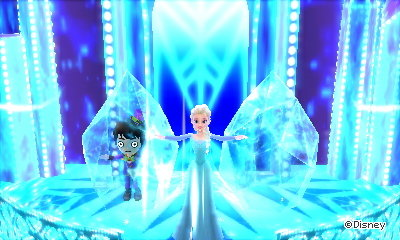 Frozen in ice in a magic dream in Disney Magical World 2.