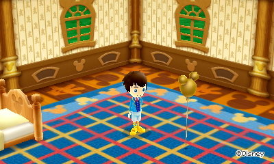 My house in Disney Magical World 2, including my golden Mickey balloon.