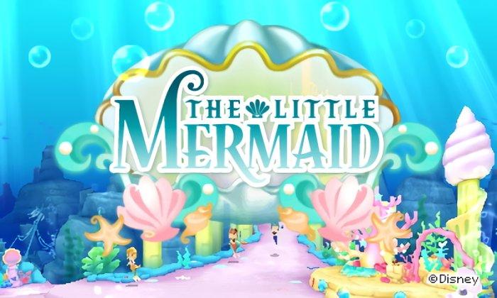 The Little Mermaid world title screen in Disney Magical World 2.