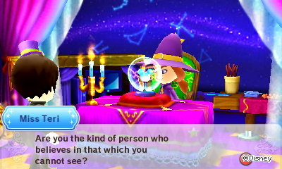 Miss Teri: Are you the kind of person who believes in that which you cannot see?