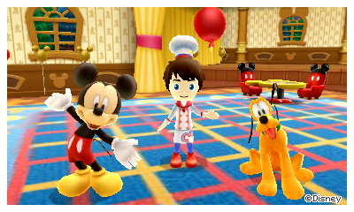 A souvenir photo of me, Mickey Mouse, and Pluto.