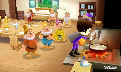 Cooking stew for the seven dwarfs.