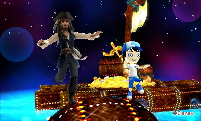 Running on a barrel with Captain Jack Sparrow in DMW2.