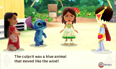 Girl: The culprit was a blue animal that moved like the wind!