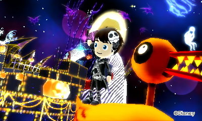 Sitting on a crazy duck in the Nightmare Before Christmas dream of DMW2.