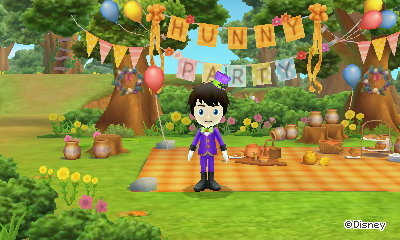 The Hunny Party banner in 100 Acre Wood.