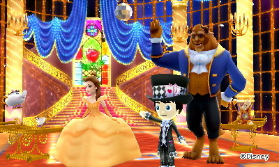 Taking a bow in the Beauty and the Beast dream in Disney Magical World 2.