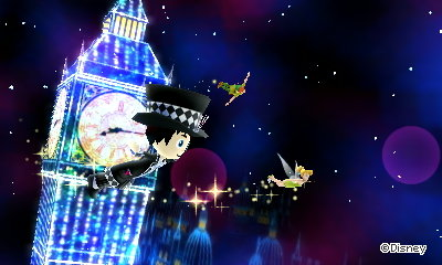 Me, Peter Pan, and Tinkerbell fly past Big Ben.