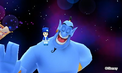 Me sitting on giant Genie's shoulder.