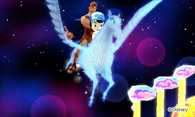 Me and Hercules flying on Pegasus.