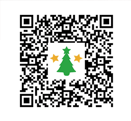 QR code for some Christmas items in Disney Magical World 2.