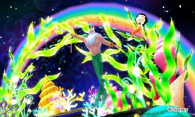 King Triton makes an underwater rainbow.
