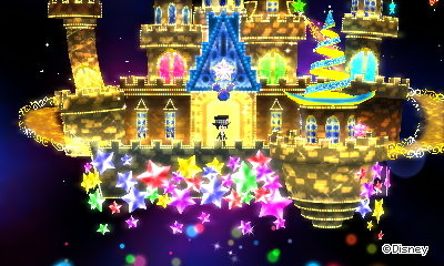 The castle in the Shiny Star dream in Disney Magical World 2.