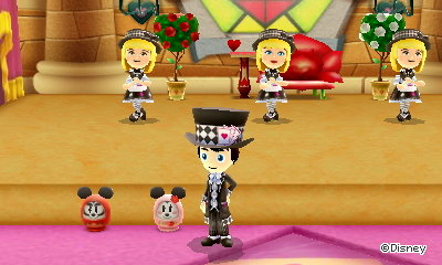 The Mickey daruma doll and Minnie daruma doll in Disney Magical World 2 for 3DS.