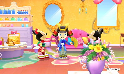Me wearing the samurai outfit in Disney Magical World 2.