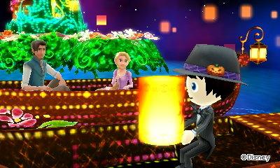 I launch a sky lantern in a Tangled dream in Disney Magical World 2.