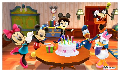 A commemorative photo taken at my birthday party in Disney Magical World 2 for Nintendo 3DS.