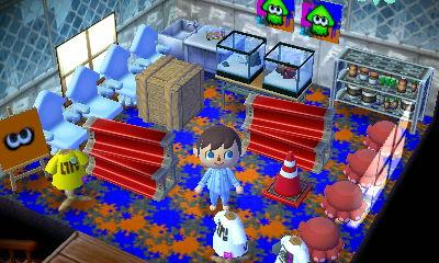Splatoon themed room in Nintendo of Japan's New Leaf dream town.