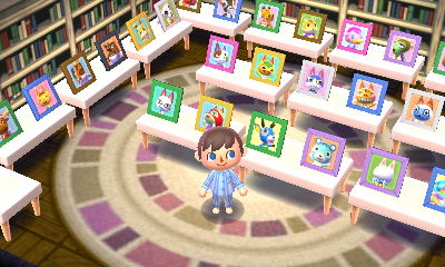 A room with many villager pictures.