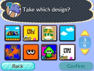 Splatoon patterns available from Wendell in Nintendo's dream town.