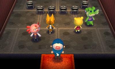 Shrunk, Tabby, Tammy, and Drago in Club LOL.