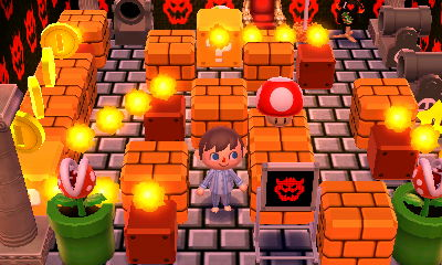 Bowser's castle in Nintendo's dream town.