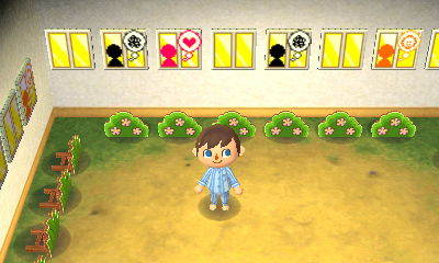 A Tomodachi Life room in Nintendo's New Leaf dream town.