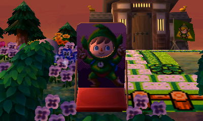 A faceboard of Tingle from the Zelda series.