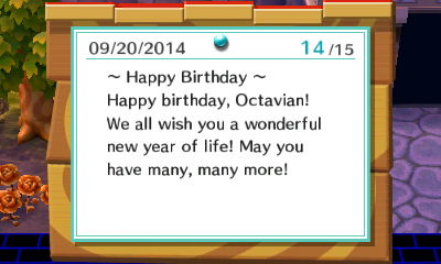 Happy birthday, Octavian! We all wish you a wonderful new year of life!