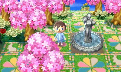 A statue fountain in Pucchin.
