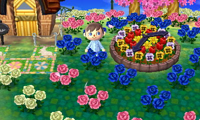 Flower clock and flowers.