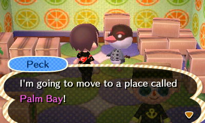 Peck: I'm going to move to a place called Palm Bay!