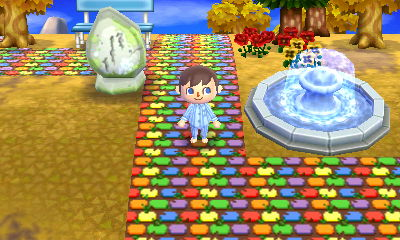 Rainbow brick path in Twinkle.