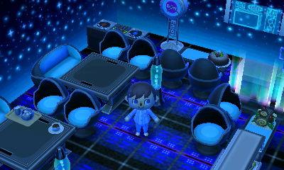 A cool sci-fi room.