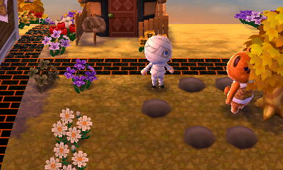 trapping teddy before halloween begins - Halloween Animal Crossing City Folk