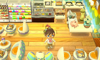 A cafe in the dream town of Pastelia.