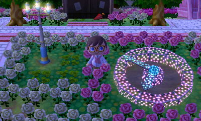 A fairy-tale streetlight and illuminated clock PWP in the dream town of Pastelia.