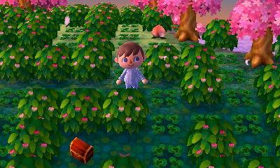 A bush maze in the dream town of Pastelia.