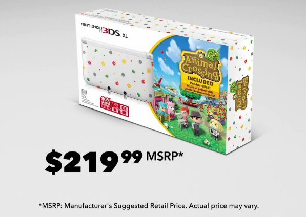 The Animal Crossing 3DS XL.