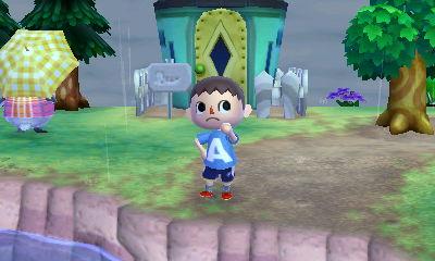 Me wearing an A shirt in the rain.
