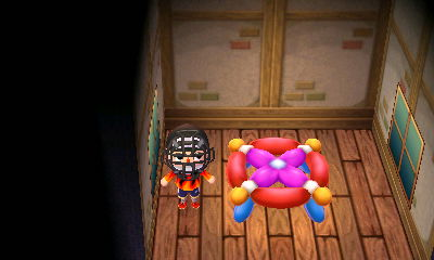My balloon table that I got from a balloon present.