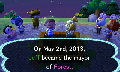 On May 2nd, 2013, Jeff became the mayor of Forest.